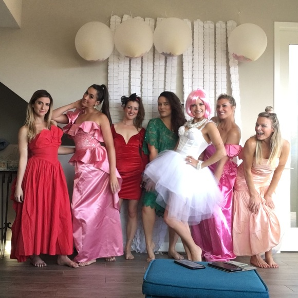 Old Ugly Wedding Dresses: Ugly Bridesmaid 70s 80s 90s Prom Dress